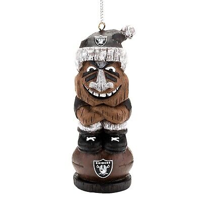 Oakland Raiders Football NFL Resin Mini Tiki Holiday Christmas Tree Ornament