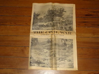 The Civil War And Reconstruction 1961 New York Times Supplement Newspaper