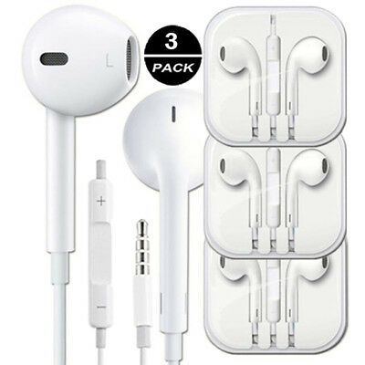3pack x OEM In-Ear Earphones Headphone For iPhone 6s 6 5S 5 SE Handsfree