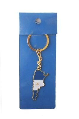 Argentina Country Shape Flag Metal Keychain .. New