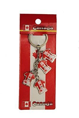 CANADA Country Flag - 4 Charming JERSEYS Metal KEYCHAIN ..Great Quality .. New