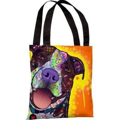 One Bella Casa 71841TT18P 18 in. Daisy Pit Polyester Tote Bag by Dean Russo