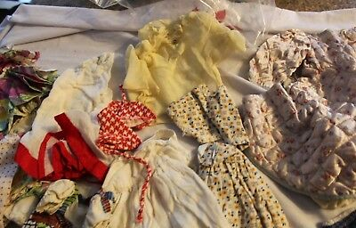 1950s VINTAGE DOLL CLOTHES LOT FOR  TONI doll manufactured / hand made 19 pieces