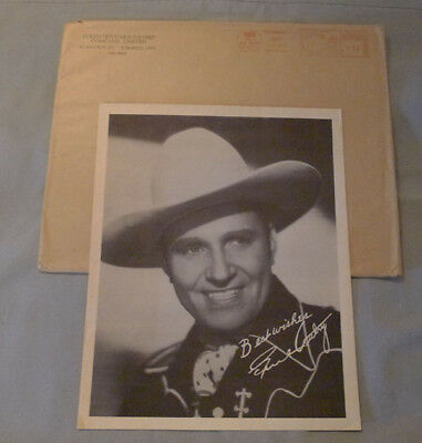 Rare 1941 Colgate-Palmolive Co. Gene Autry Premium Photo With Mailer Envelope