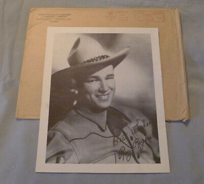 Rare 1940 Colgate-Palmolive Co. Roy Rogers Premium Photo With Mailer Envelope