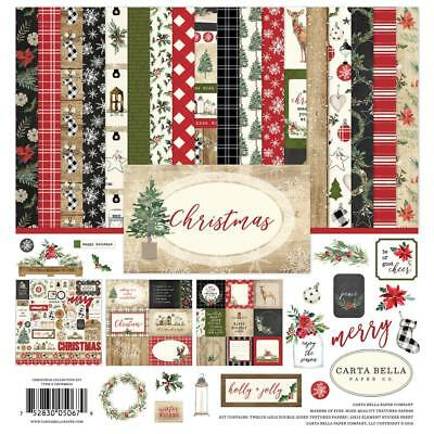 "Carta Bella Collection Kit - CHRISTMAS - 12x12"" papers + stickers"