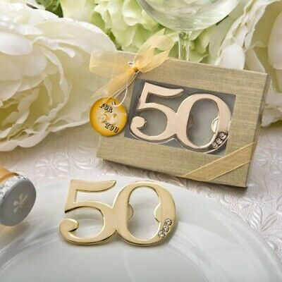 20 Gold 50th Design Bottle Opener 50th Wedding Anniversary Birthday Party Favors