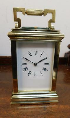 brass cased repeating carriage clock