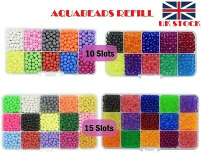 NEW Aquabeads Refill Pack 10-15 Slots Sorted Color 1000-1700 Beads