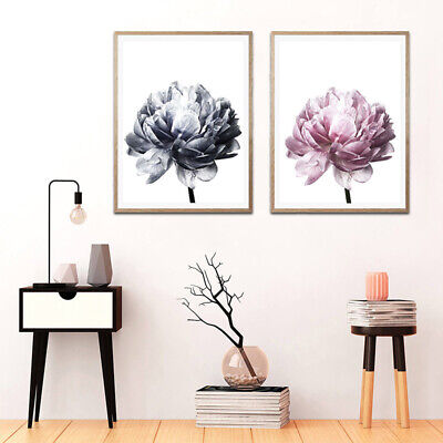Flower Modern Wall Art Canvas Painting Picture Home Living Room Mural Poster DIY