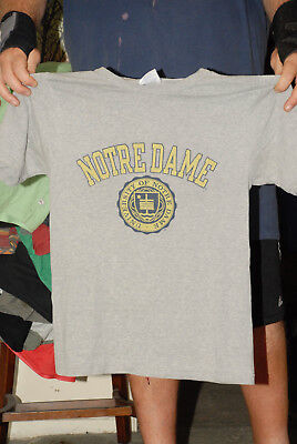 University Of Notre Dame Champion Brand T Shirt Vintage Small Very Good+