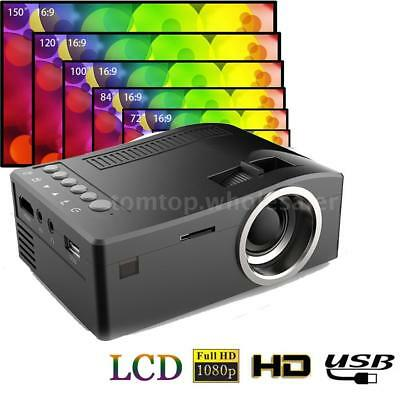 UC18 Mini Portable TFT LCD Projector 1080P Video USB AV TF Card For Home Theater