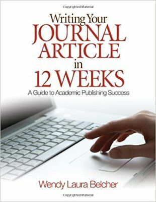 Writing Your Journal Article in Twelve Weeks A Guide to Academic (PDF)