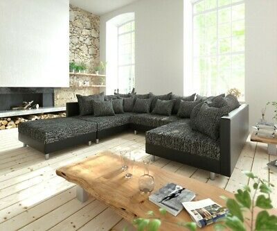 Couch Clovis Xl Anthrazit Antik Optik Wohnlandschaft Modulsofa By
