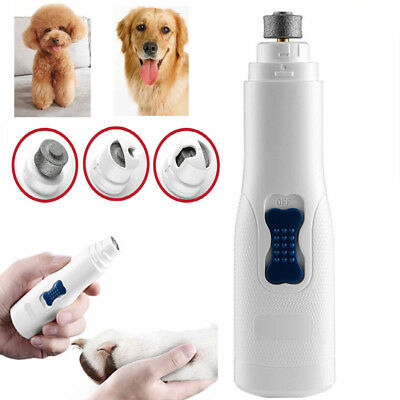 Professional Pet Dog Cat Nail Trimmer Grooming Tool Grinder Electric Clipper Kit