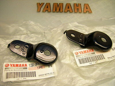 NEU 2x R/L ORIGINAL YAMAHA BLINKER BLINKERHALTER US-VERSION AM RAHMEN XT 250 500
