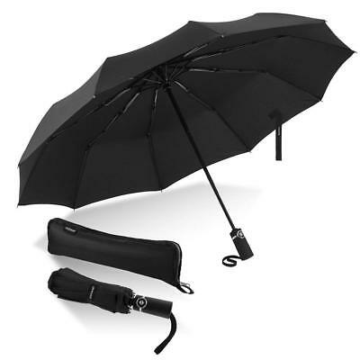Newdora Windproof Travel Umbrella Golf Umbrella Auto Open Close, Lightweight 10