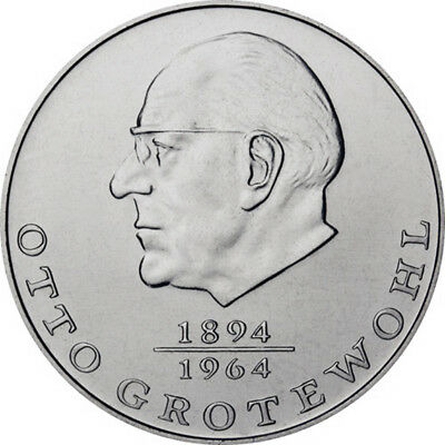 DDR 20 Mark Gedenkmünze 1973 bfr Otto Grothewohl lose*