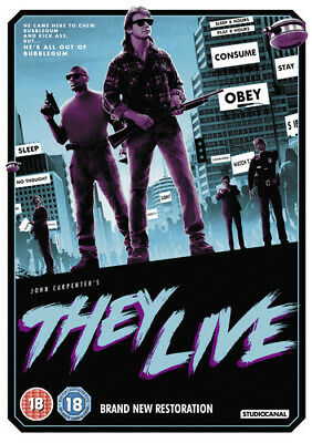 They Live DVD (2018) Roddy Piper ***NEW***