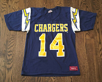 vintage dan fouts san diego chargers jersey shirt rawlings nfl rh picclick com