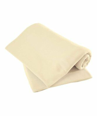 Cot Fitted Sheets , Cream, 63 x 127 cm Pack of 2, Nursery Bedding