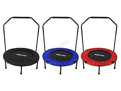 """WestWood Mini Trampoline – Foldable Fitness Rebounder With Handrail – 36/40/48"""""""