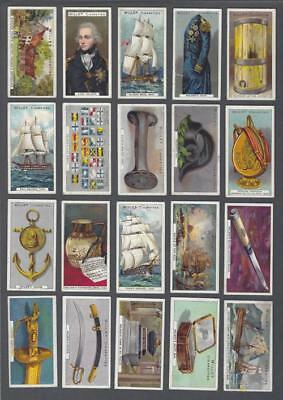 1905 Wills's Cigarettes Nelson Series Tobacco Cards Near Set of 45/50