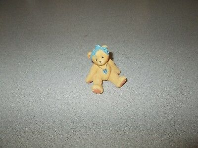 Teddy Bear figurine December birthstone P Hillman Enesco 1996 licensed 239933