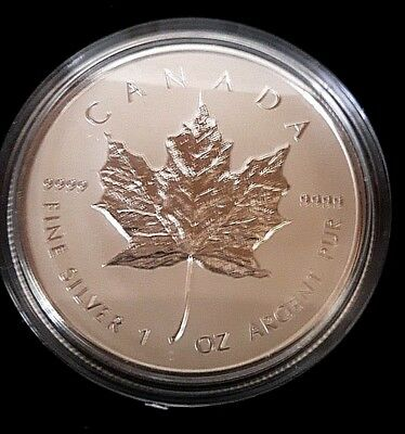 2014 Canada $5 1oz Reverse Proof Silver Maple Leaf Coin Bullion Rep