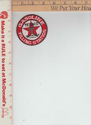 Texaco  gasoline patch approx 3  inches round