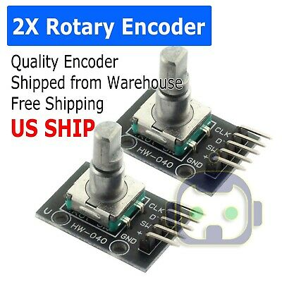 Rotary Encoder Digital Potentiometer 20mm Knurled Shaft with Switch USA