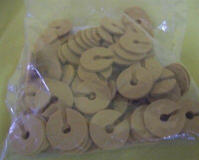 Store Display Fixtures 100 NEW FLAT DISC MARKERS TAN