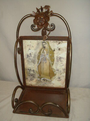 Jan Barboglio Forged Iron Devotion Hutch Our Lady Guadeloupe Retired