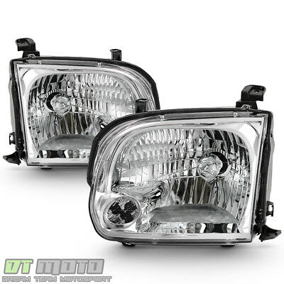For 2005-2006 Toyota Tundra Double Cab 05-07 Sequoia Headlights Headlamps Pair