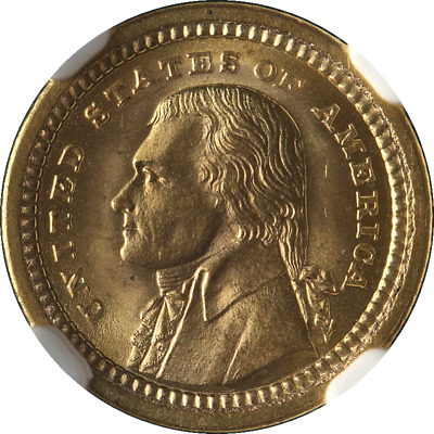1903 Jefferson Gold Commemorative $1 NGC MS65 Blazing Gem Superb Eye Appeal