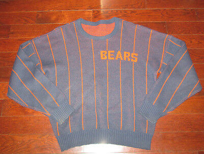 Vtg 80s Chicago Bears Wool Sweater Vest Ditka Cliff Engle Xl