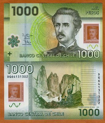 Chile 1000 (1,000) Pesos, 2016 (2018) Polymer P-161-New Date UNC