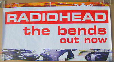 RADIOHEAD The Bends 1995 UK Promo Subway POSTER Huge! THOM YORKE VG++
