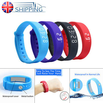 Kids Activity Watch Tracker Pedometer Calorie Band Counter Fitness Wrist Step