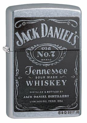 Zippo Jack Daniel's Label Lighter - Street Chrome