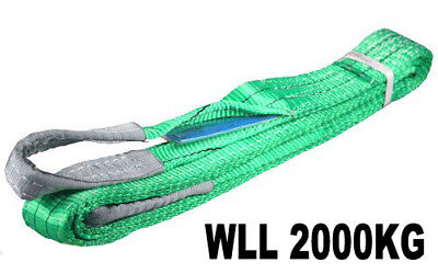 New Flat Lifting Slings 2Tonne Rated 1M To 5M Long - Aus Standards Compliant