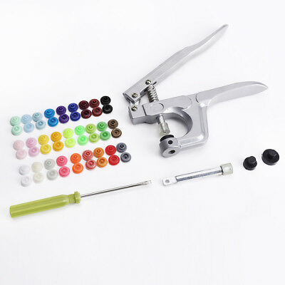 Assorted Colors(27) Snap Pliers Fastener Press Stud Button W Fixing Sewing Snap