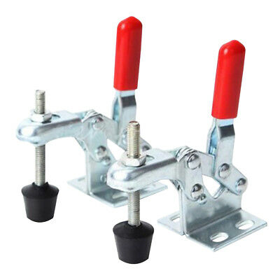 2 Pcs Pro 30Kg Holding Capacity Vertical Quick Toggle Clamp Metal Hand Tools USA