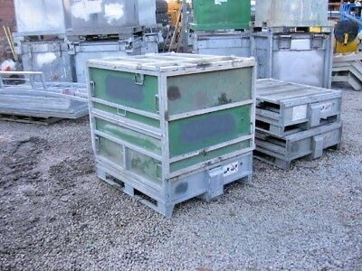 1 Used Top Quality Galvanised Steel Collapsible Storage Pallet Box