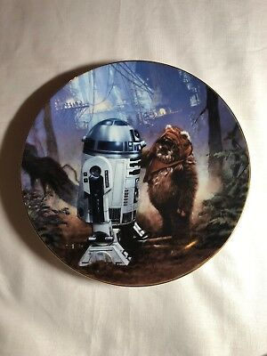 Star Wars Plate Hamilton Vintage Collectible 80's R2D2 Wicket Moon Of Endor
