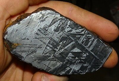 Amazing 188 Gm. Muonionalusta Etched Meteorite Slice