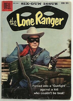 THE LONE RANGER #125 (Clayton Moore Photo Cover, Western Comics) Dell, 1958