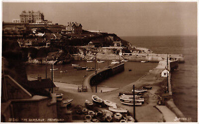 Newquay, The Harbour, Judges' sepia RP postcard No.18361, unposted