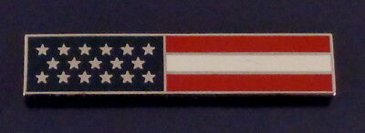 US Flag SILVER Uniform Award/Commendation Bar Pin Police/Sheriff/Fire/EMS USA!