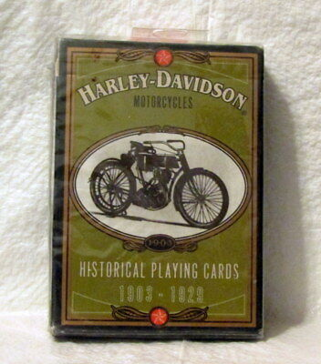 Harley Davidson Factory Sealed Pack of 1997 Pack of Historical Playing Cards